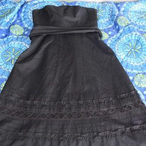 Ann Taylor Loft Strapless Side Zip Dress